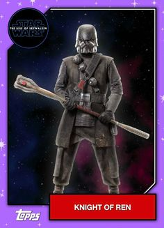 Star Wars - The Rise of Skywalker - Official Topps Trading Cards - Knights of Ren 2 Rey Star Wars, Finn Star Wars, Star Wars Kylo Ren, Star Trek, Ritter Von Ren, Star Wars Helmet, Star Wars Sequel Trilogy, Knights Of Ren, Star Wars Personajes