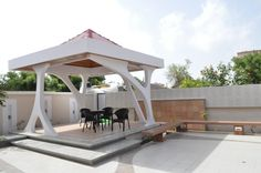 modern gazebo by khodiyar associates