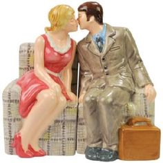 The Brady Bunch Magnetic Carol and Mike Salt and Pepper Shaker Set