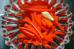 Check out this easy recipe for pickled carrot sticks.