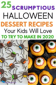 Halloween baking is a great holiday tradition to try with your kids. Here are 25 perfect Halloween recipes to try with your kids this year. Cooking with kids is such a great bonding activity. Why not try one of these fun Halloween recipes this year? Maybe a fun spider dessert or eyeball cupcakes. There are so many great Halloween desserts to choose from. Halloween Popcorn, Halloween Treats For Kids, Halloween Baking, Halloween Dinner, Halloween Drinks, Halloween Desserts, Halloween Activities, Halloween 2019, Monster Cupcakes
