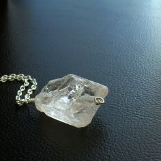 Crystal Quartz Necklace, Rough Stone in Sterling Silver by I'm cindylouwho2, via Flickr