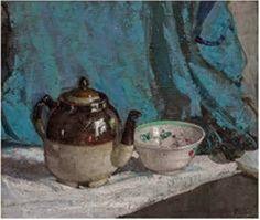 ~Richard E. Miller ~ American Impressionist artist, 1875-1943: Teapot and Bowl