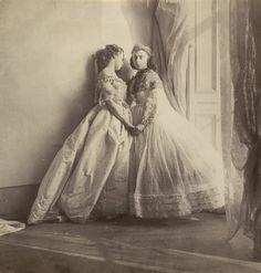 Grace Maude and Clementina Maude, c. 1863-64. Clementina, Lady Hawarden (British, 1822-65). Albumen silver print. Museum of Modern Art, New York.