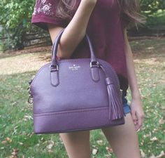 Kate Spade Carli Mccall Street Satchel Pebble Leather Mahogany WINE NWT | eBay