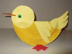 Spring Art- paper plate duck kids