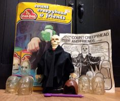 *COMPLETE* Vtg Toy Monster Playdoh Set Count Creepyhead & Friends Wolfman Mummy