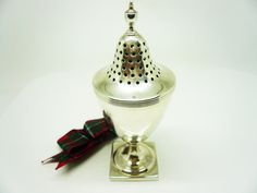 Silver Pounce Pepper Pot Sterling Antique English by DartSilverLtd, £275.00