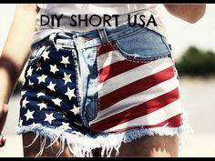 Resultado de imagen para blusas y short con la bandera de estados unidos