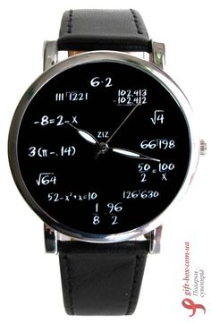 I have this in the wall clock version, on graph paper.  Наручные часы ZIZ «Математика» - matte black watch mens, invicta watches, sale mens watches *ad