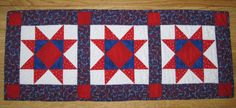 Patriotic Stars Table Runner by CompassQuilts on Etsy