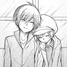 Find images and videos about assassination classroom, akabane karma and shiota nagisa on We Heart It - the app to get lost in what you love. Anime Drawings Sketches, Anime Sketch, Cute Drawings, Anime Love Couple, Cute Anime Couples, Drawing Reference Poses, Art Reference, Manga Art, Manga Anime