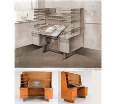 Disney Animation desk designed by Kem Weber