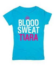 Aqua 'Blood Sweat Tiara' Fitted Tee | Reminds me of my friend Amy