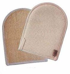 Cotton Waffle Loofah Mitt by Pendergrass Inc. $2.99. Cotton waffle fabric on back.. Made of natural loofah.. Color: Beige.. Great for exfoliating dry skin.. Scrubs and exfoliates in the bath or shower.