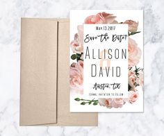 Rose gold + Floral [Save The Dates]