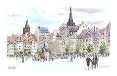 Strasbourg - pl.Kléber - Alsace - France