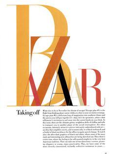 Fabien Baron , Harpers Bazaar