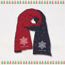[歡慶耶誕]保暖圍巾-純白雪花