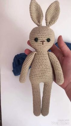 Crochet bunny in a dress ,Plush bunny,Stuffed toys,Knitted bunny doll,Knitted bu. Knitting Blogs, Knitting For Kids, Knitting Projects, Crochet Projects, Free Knitting, Crochet Patterns Amigurumi, Amigurumi Doll, Crochet Toys, Knitting Patterns