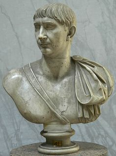 Emperor Trajan, Roman bust (marble), 2nd century AD, (Musei Vaticani, Vatican City).
