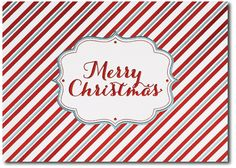 Candy Cane Christmas - by Sussex Printing Corp. http://www.holidaycardwebsite.com/theguide/ #christmas cards