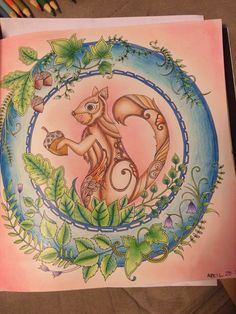 Johanna Basford   Colouring Gallery enchanted forest by me