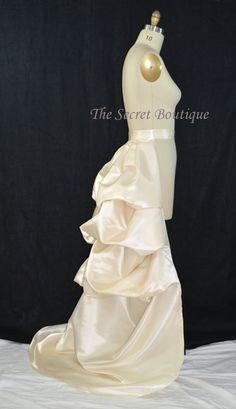 Hey, I found this really awesome Etsy listing at https://www.etsy.com/listing/185120386/detachable-wedding-train-bustle