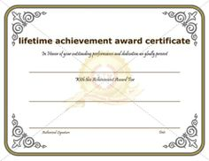 Most Valuable Achievement Certificate Template