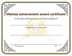 outstanding performance award certificate achievement