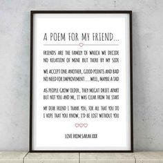 This heartfelt poem for best friends.