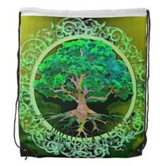 Tree of Life Health and Prosperity Backpack by Amelia Carrie
