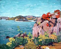 Spring Lake (Rocks and Water), Tom Thomson, oil on composite wood-pulp board, Ontario, Canada. Gift from the Lyceum Club and Women's Art Association. Canadian Painters, Canadian Artists, Emily Carr Paintings, Group Of Seven Paintings, Tom Thomson Paintings, Catalogue Raisonne, Painting Collage, Abstract Paintings, Most Famous Artists
