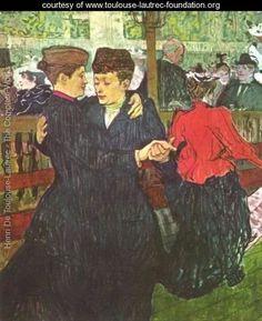 Two Women Dancing At The Moulin Rouge    Henri De Toulouse-Lautrec