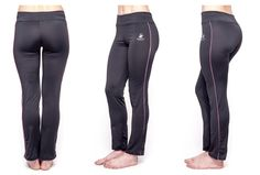 Beverly Hills Polo Club Womens Athletic Workout and Yoga Pant 2 Pk: Black/Pink/M