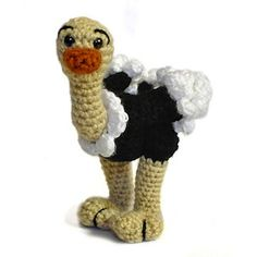 Ostrich - $4.00 by Megan Kreiner of MK Crochet / Exotic Birds - Animal Crochet Pattern Round Up - Rebeckah's Treasures