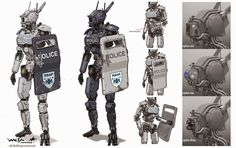 Rocketumblr | Christian Pearce Chappie Concept Art