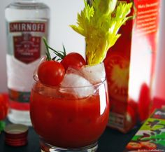 The Red Widow - Halloween Bloody Mary with an Oriental Twist with Smirnoff Vodka - The Red Widow Halloween Cocktail