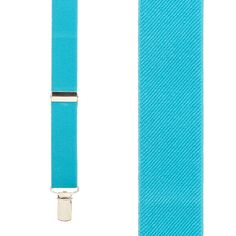 Turquoise Suspenders - 1 Inch Wide (Y-Back)