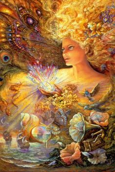 Crystal of Enchantment by Josephine Wall Fantasy Art Cool Wall Decor Art Print Poster Josephine Wall, Fantasy Kunst, Fantasy Art, Art Expo, Image Nature, Divine Mother, Nature Artwork, Fantasy Paintings, Poster Prints