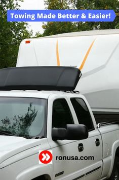 Experience the many benefits of a trailer wind deflector. #camping #rvs #motorhome #towing