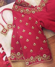 Hand Work Blouse Design, Simple Blouse Designs, Saree Blouse Neck Designs, Stylish Blouse Design, Bridal Blouse Designs, Sari Blouse, Simple Designs, Designer Blouse Patterns, Appointments