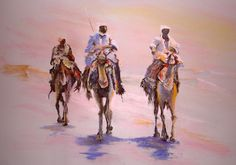 Nomades du désert Galerie D'art, Michel, Les Oeuvres, Portraits, Drawings, Sketches, Drawing, Portrait, Portrait Paintings