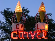Carvel Ice Cream....we would walk to Carvel for ice cream in the summertime and get BIG double cones, yum!
