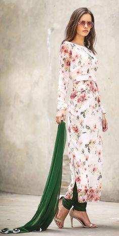 LS-1180 - White - Suits - Ladies Wear - Diya Online