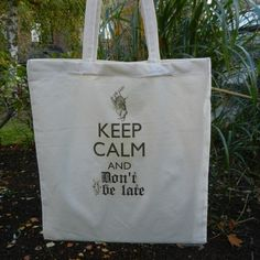 ALICE IN WONDERLAND TOTE BAG WITH WHITE RABBIT