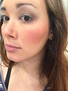 """No filters. """"I have bumpy red skin and this is game changer for me!!!! Liquid foundation,blush and eyeshadow just missing my 3D"""""""