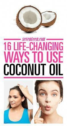 Coconut's biggest beauty benefit isn't just making your body sprays and shampoos smell yummy. The same coconut oil used for cooking has tons of surprising beauty benefits. #BeautyHacksForTeens Coconut Oil Beauty, Coconut Oil For Teeth, Coconut Oil For Dogs, Natural Coconut Oil, Coconut Oil Pulling, Coconut Oil Hair Mask, Cooking With Coconut Oil, Benefits Of Coconut Oil, Organic Coconut Oil