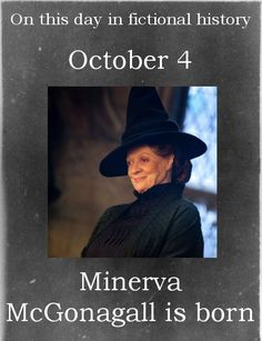 Wise old McGonagall.