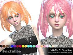 SAKURA Animate hair 25 at Studio K-Creation • Sims 4 Updates